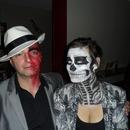 Burned face and Skeleton