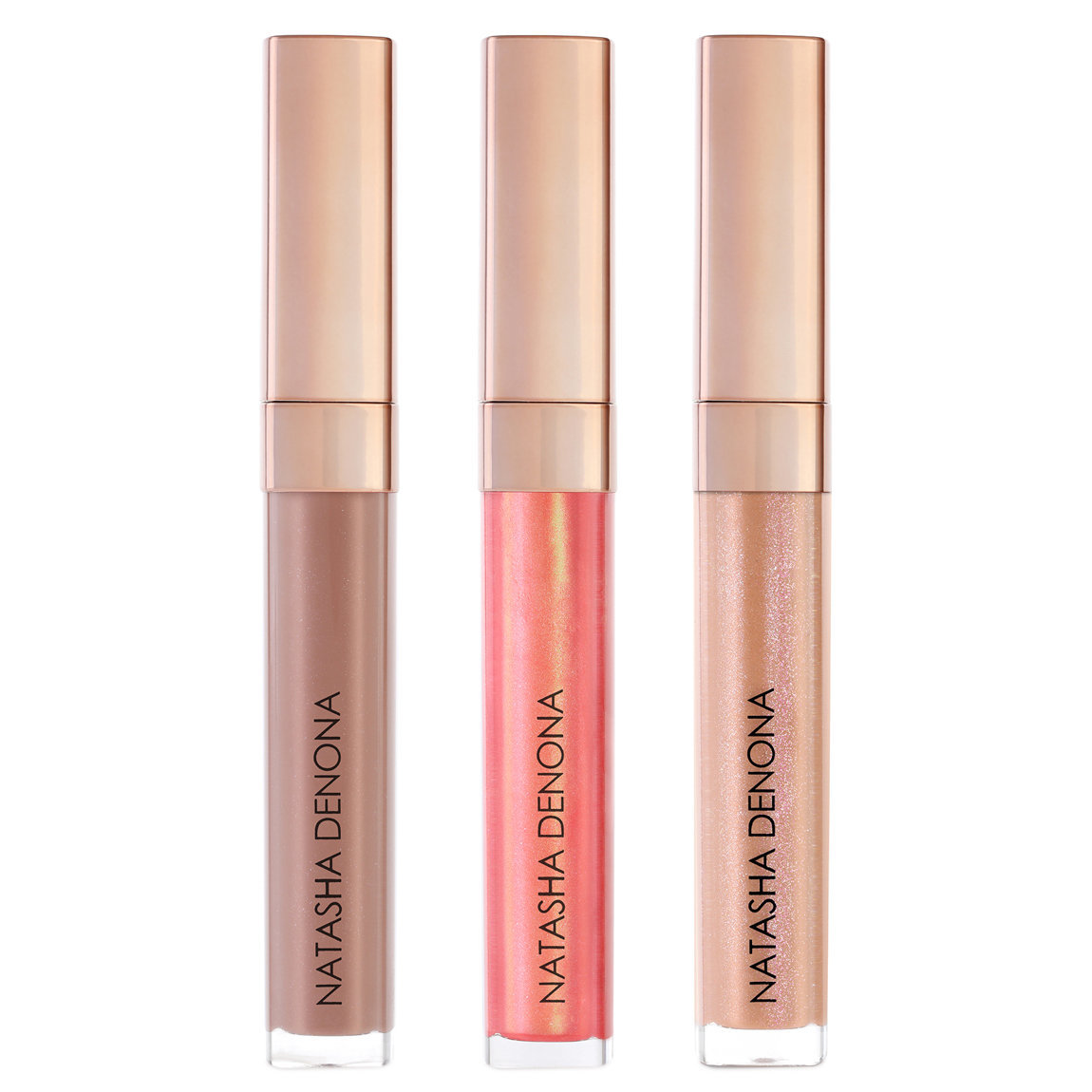 Natasha Denona Lip Oh-Phoria Gloss & Balm Bundle product swatch.