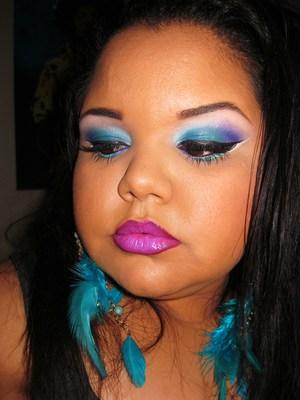 Peacock Simple Look (QueenofBlendingMUA) Twitter Contest