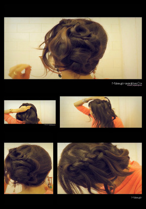 http://www.makeupwearables.com/2012/12/korean-bun-upside-down-braided-bun.html Korean bun inspired | How to upside down braided bun chignon updo sock bun, in a French rope braid hairstyle for short, medium, and long hair. fOR Wedding, casual, prom, homecoming, celebrity inspired,  hair tutorial video 2013.