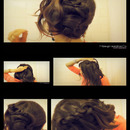 Upside Down French Rope Braided Bun Hair Tutorial for Medium Long Hair
