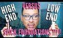 High End Vs Affordable Full Coverage Foundation Sticks - mathias4makeup