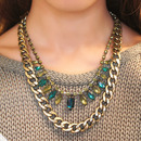 Statement Necklace in Green