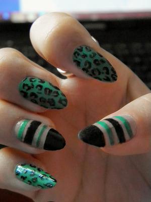 An attempt to recreate a design made by my nail guru -  http://www.beautylish.com/kirakiranail