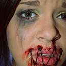 sewn up mouth