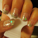 Sparkling Water Gel Nails