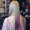 Pink dip dyed hair!