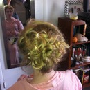 Messy prom up-do