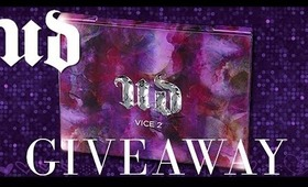 Urban Decay Vice 2 Palette Holiday Giveaway 2013