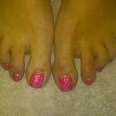 neon pink rockstar toes