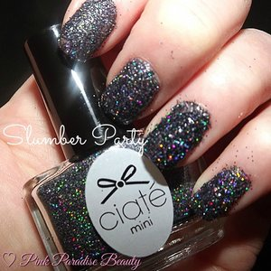 Loose black holographic glitter