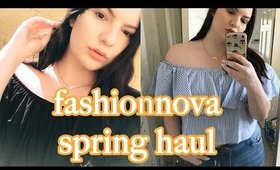 FashionNova Spring Plus Size Try On Haul   OliviaMakeupChannel