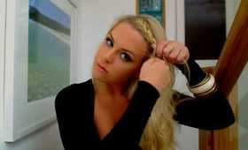 French Plait with Loose Curls. Aubrey O'day Inspired Hairstyle