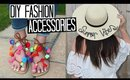 DIY Pom Pom Sandals & Slogan Sun Hat - Easy & Affordable! | TRAVEL WEEK