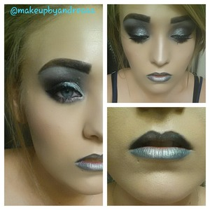 someone asked me to do a futuristic look with chrome & black so here is the look!