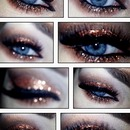 copper glitter eye