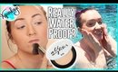 Testing Waterproof Makeup in the Pool! | Urban Decay All Nighter Setting Powder