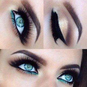 Eyeshadow ideas for blue dress