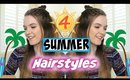 4 Summer Hairstyles : Fun, Simple, and Cute!