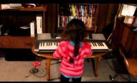 My Daughter Shania Playing Moonlight Sonata On The Keyboard