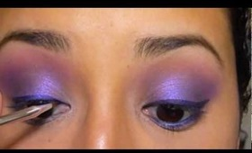Tutorial: Purple Smokes (using Urban Decay Deluxe palette)