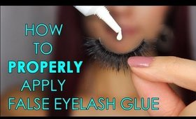 ALL ABOUT ADHESIVES Part 1 of 3: How to PROPERLY Apply False Eyelash Glue