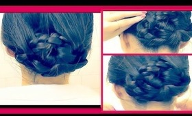 ★ WET HAIR HAIRSTYLES UPDO IN 5 MIN | EASY BRAIDED BUN/CHIGNON ON YOURSELF ON LONG HAIR: Coiffure