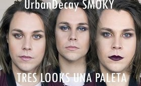 Una paleta tres looks Urban Decay Smoky