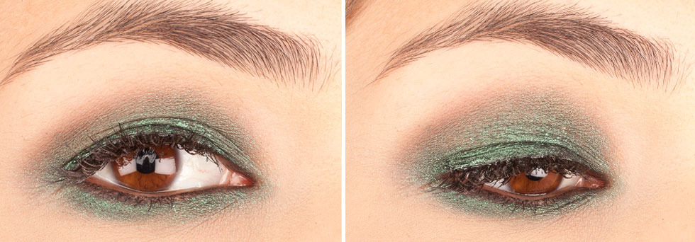 Green Eyeshadows: Sugarpill Loose Eyeshadow in Junebug