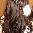 Waterfall French Braid with Sultra Curls created with a Flat Iron
