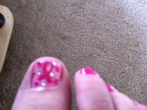 Toenails for breast cancer awareness month