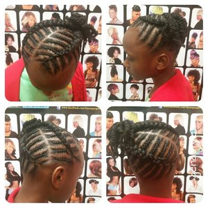 Braided styles for the little ones... for booking visit www.styleseat.com/tatianawilson