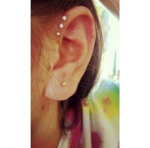 Triple helix piercing I got about 3-4 months ago