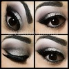 Silver Smokey Glitter Eye