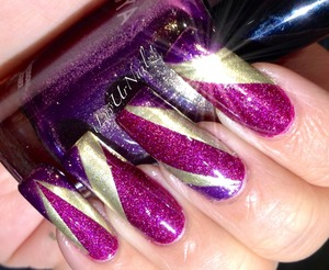 OPI DS Extravagance, Soo Colors Gold & Zoya Daul with Regular Scotch Tape