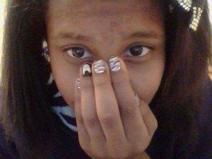 Made up this nail look myself:)