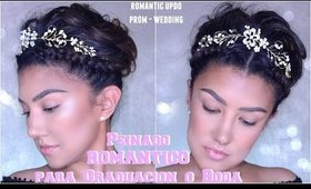 Peinado ROMANTICO Graduacion Boda / Prom Updo Wedding hairstyle tutorial medium hair | auroramakeup