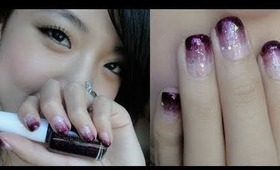 Purple Gradient Nail Art Tutorial