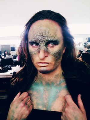 My version of medusa (minus the snakes :( ) foam prosthetics on forehead, nose and cheeks :)