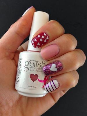Gelish Gel polish manicure. Tutorial on my blog http://lslfun.blogspot.com