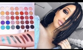 GET READY WITH ME + 1ST IMPRESSIONS | Jaclyn Hill x Morphe Palette Swatches