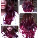 auburn red ombre
