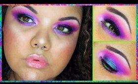 Ultraviolet |  Duo Chrome Fuschia w/ Green + Blue Glitter