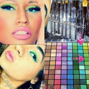 Nicki Minaj Makeup E.L.F 144 eyeshadow Pallet  IG: Goddessofmakeup