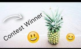 CONTEST WINNER!