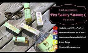 Pixi Beauty Vitamin C Skintreats | First Impressions | Brighter Complexion | Fabulous Life of Mrs. P