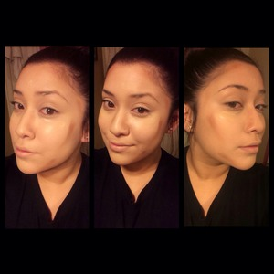 Forgive my blotches I was in a hurry haha! But here's quick 5 min contouring!!!