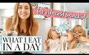WHAT I EAT IN A DAY WHILE NURSING (& FEED MY TODDLERS) 3 WEEKS POST PARTUM | Kendra Atkins