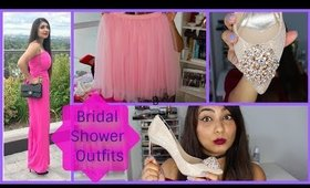Bridal Shower Outfits Haul: Tulle Skirt, Pink Jumpsuit, Rhinestone Shoes   Wedding Series Video#2