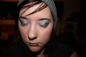 shimmery grey eyes